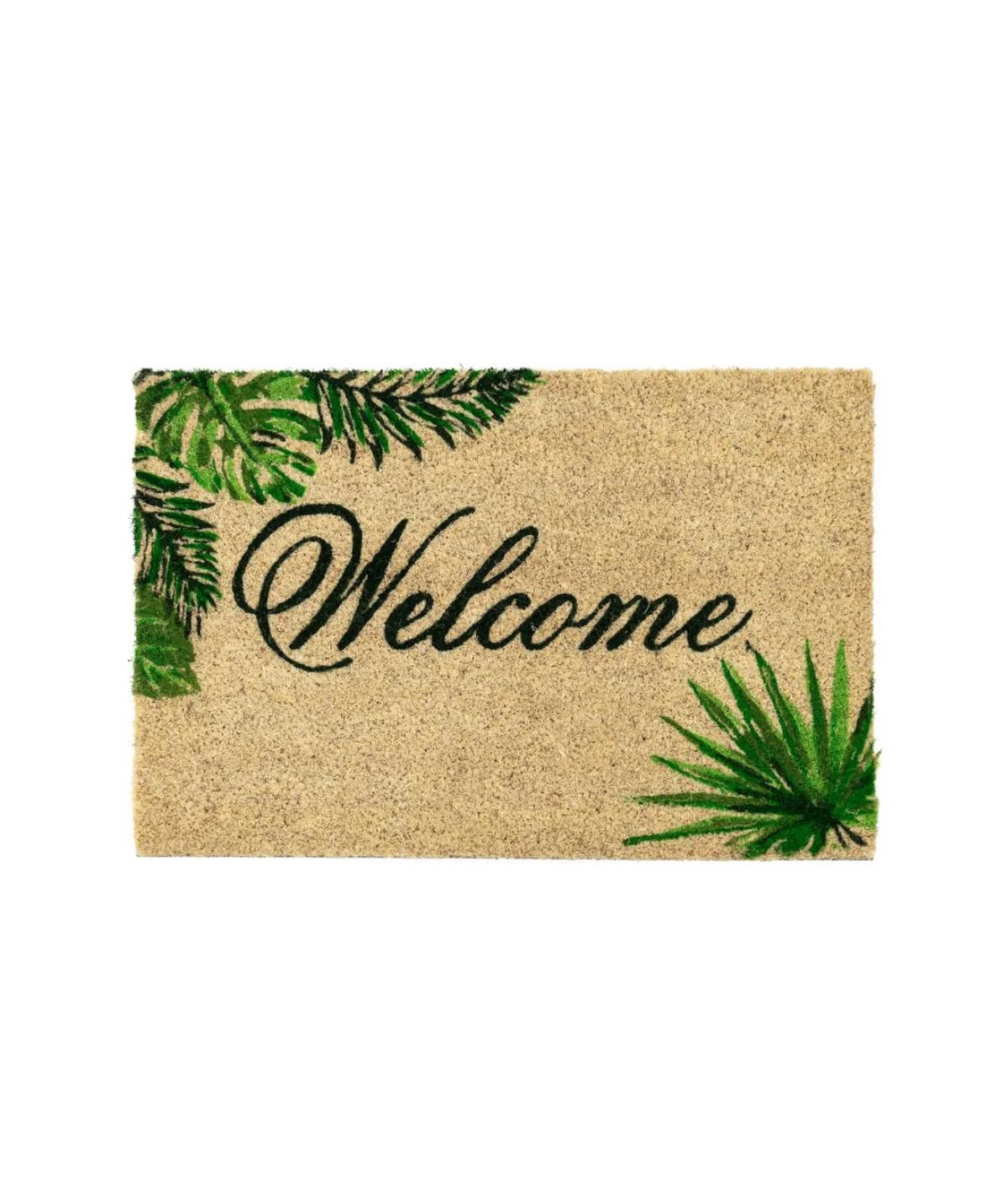 Paillasson coco 60x40cm - Jungle welcome |YESDEKO
