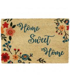 Paillasson coco floral 60x40cm - Home sweet |YESDEKO