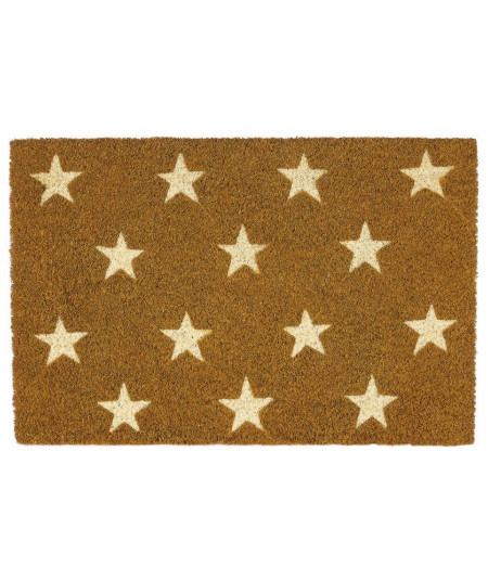 Paillasson coco beige style naturel 60x40cm - Stars | Yesdeko