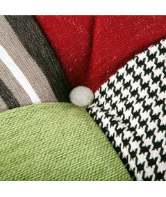 Coussin en velours patchwork recto/verso 45x45cm (Lot de 2) - Outlet Yesdeko