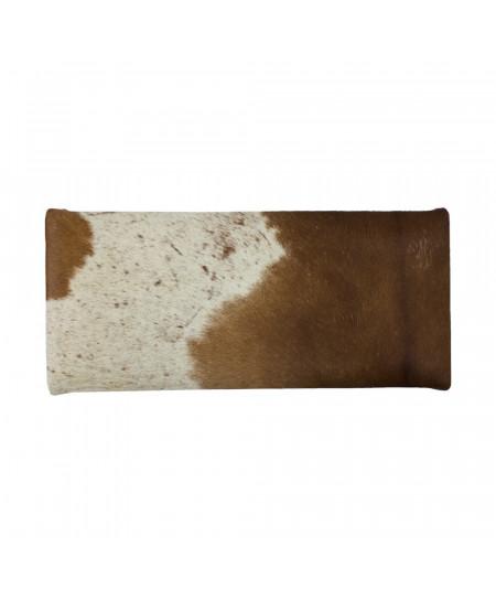 Banquette en cuir rouge brun,structure en bois 26xH45cm |YESDEKO