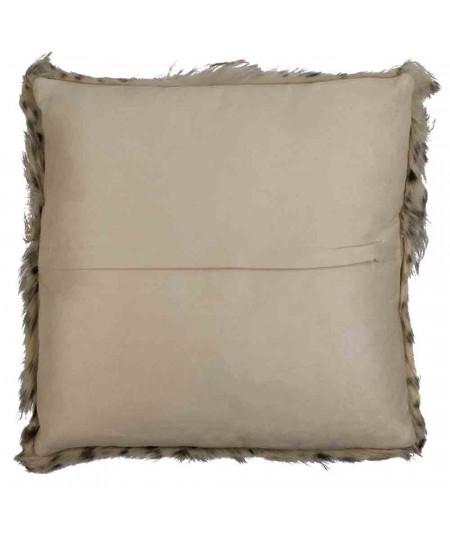 Coussin en peau naturelle imprimé 40x40cm - Léopard |YESDEKO