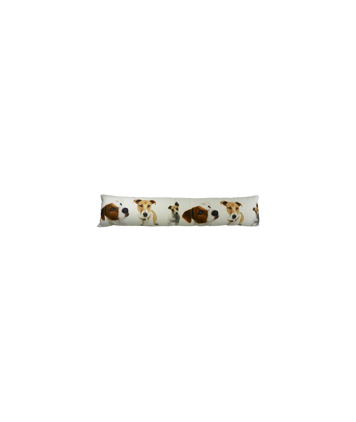 Boudin de porte en toile de coton 90x20cm - Jack Russell |YESDEKO