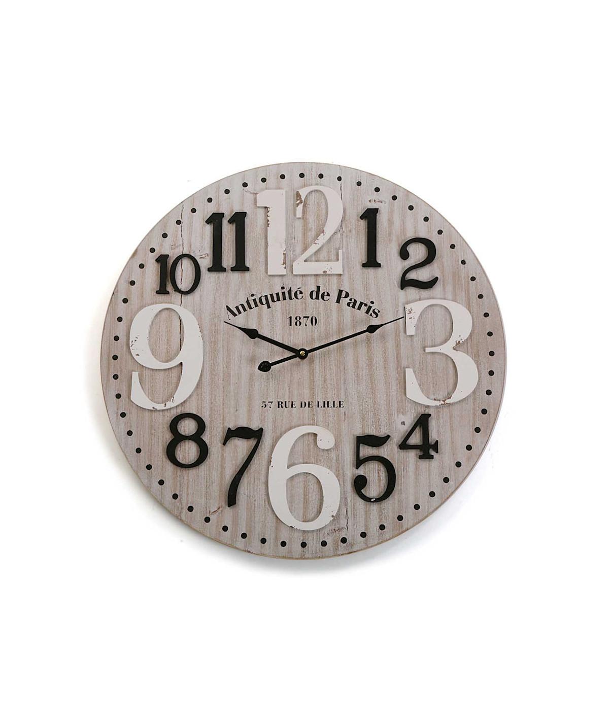 Horloge murale ronde bois Diam60cm - Madison |YESDEKO