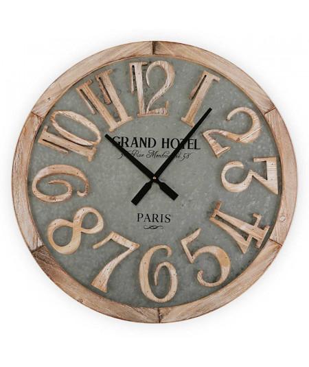 Horloge murale ronde en bois Diam60cm - Grand Hotel - Horloge murale|Yesdeko