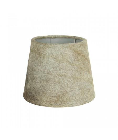 Abat-jour en peau de vache conique diam20cm - Beige et blanc | Yesdeko