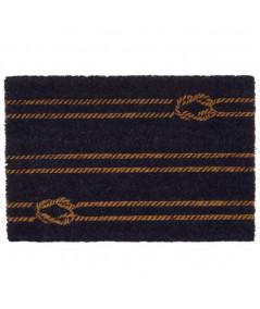 Paillasson coco motifs noeuds 60x40cm - Marin  YESDEKO