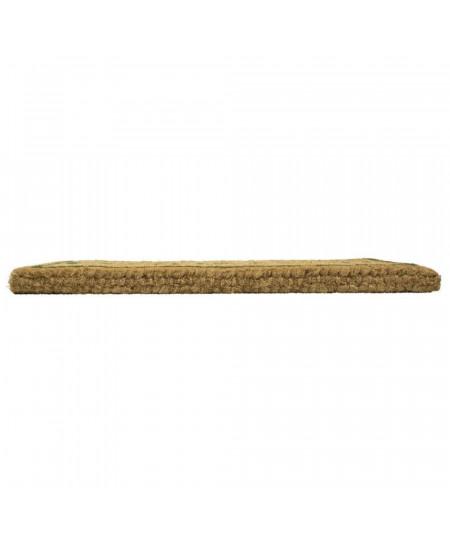 Paillasson coco fait main 75x45cm - Cerf noir   Yesdeko
