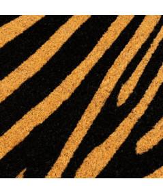 Paillasson coco à motifs zébrés 60x40cm | Yesdeko