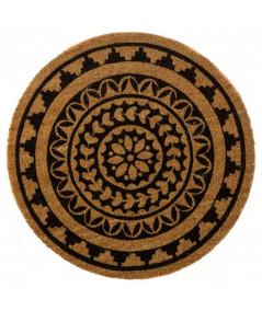 Paillasson rond en coco Diam60cm - Mandala | Yesdeko