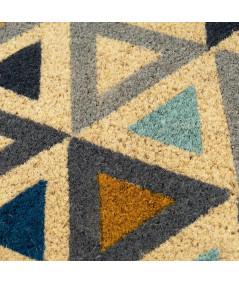 Paillasson coco à motif losange 60x40cm | Yesdeko