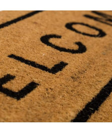 Paillasson allongé en coco 75x25cm - Welcome | Yesdeko