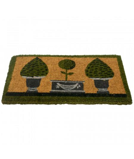 Paillasson en coco tressé, fait main 75x45cm - Topiary | Yesdeko