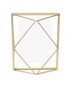 Cadre photo en métal doré 23x18cm - Prisma | Yesdeko