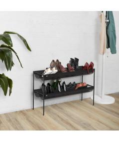 Organiseur de chaussures couleur noir (16 paires) - Sling Black - UMBRA | Yesdeko