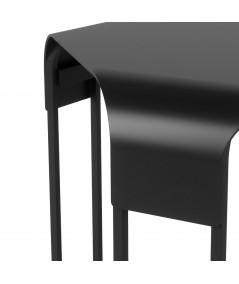 Table d'appoint carré en métal noir - Collection Graph - Umbra   Yesdeko