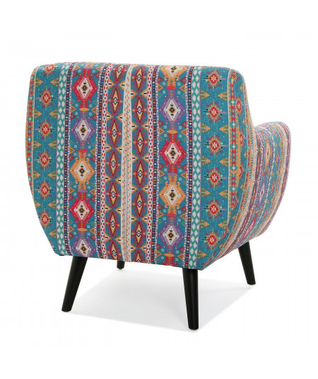 Fauteuil à motif mexicain turquoise - Acapulco - Fauteuil patchwork | Yesdeko