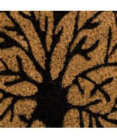 Paillasson en coco motif arbre de vie 60x40cm - Arborvitae |YESDEKO