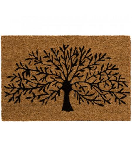 Paillasson en coco motif arbre de vie 60x40cm - Arborvitae | Yesdeko