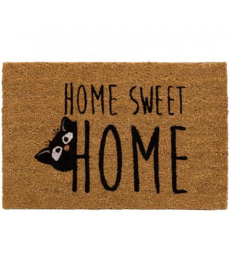 Paillasson en coco chat 60x40cm- Cat Home | Yesdeko