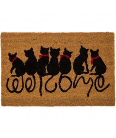 Paillasson en coco chat 60x40cm Cat Welcome | Yesdeko