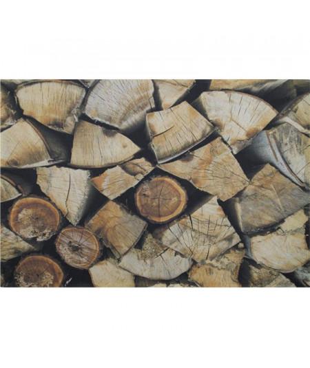 Tapis cuisine motif bûche bois, lavable 75x50cm |YESDEKO