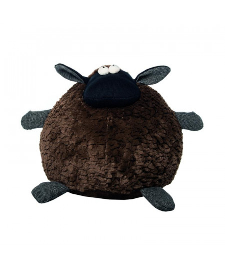 Peluche ronde Diam30cm Mouton marron |YESDEKO