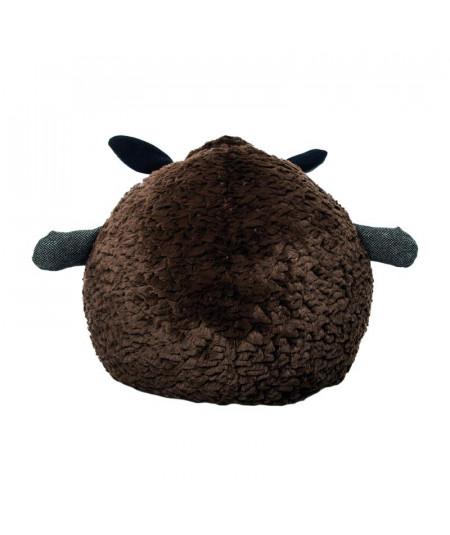 Peluche ronde Diam30cm - Mouton marron - Peluche | Yesdeko