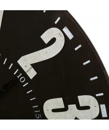 Horloge murale ronde noir Diam60cm - Vintage Clock |YESDEKO