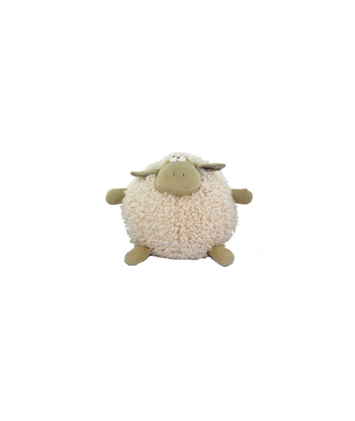 Peluche ronde en coton Diam30cm - Mouton rose |YESDEKO