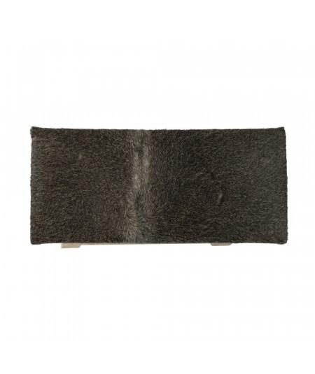 Banquette en cuir peau grise 45xH46cm - Banc - Banquette | Yesdeko