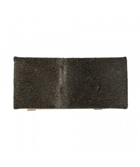 Banquette en cuir peau grise 45xH46cm |YESDEKO