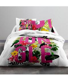 Parure de couette en coton, 2 personnes 220x240cm - Jungle Purple - Parure de lit