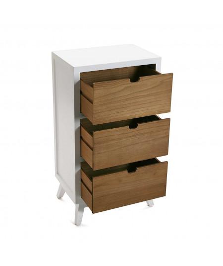 Commode 3 tiroirs, en bois naturel |YESDEKO