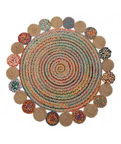 Tapis jute rond multicolore Diam120cm - Exotica |YESDEKO