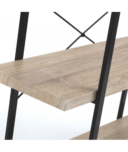 Etagère en bois à plateau beige, 4 niveaux |YESDEKO