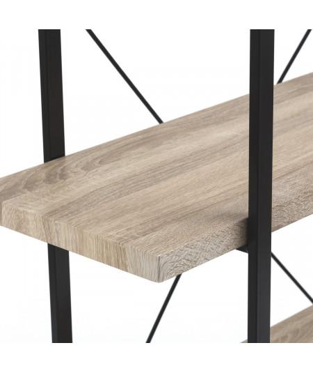 Etagère en bois à plateau beige, 5 niveaux  YESDEKO