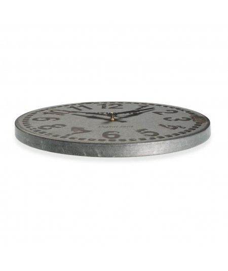 Horloge murale en métal vieilli Diam40cm - Factory | Yesdeko