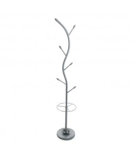 Porte manteau en métal argent 5 branches H185cm Zigzag - Porte manteau | Yesdeko