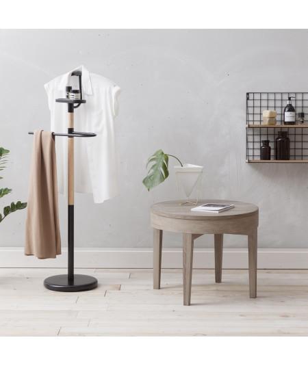 Valet de chambre en bois noir et naturel H112cm- Victoria - Valet de chambre   Yesdeko