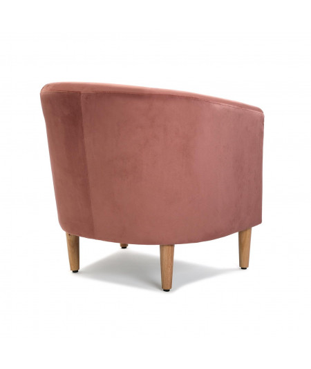 Fauteuil club velours rose 62x60x62cm - Pink |YESDEKO