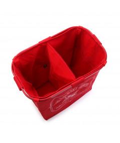 Panier à linge rouge avec 2 compartiments - Panier à linge   Yesdeko