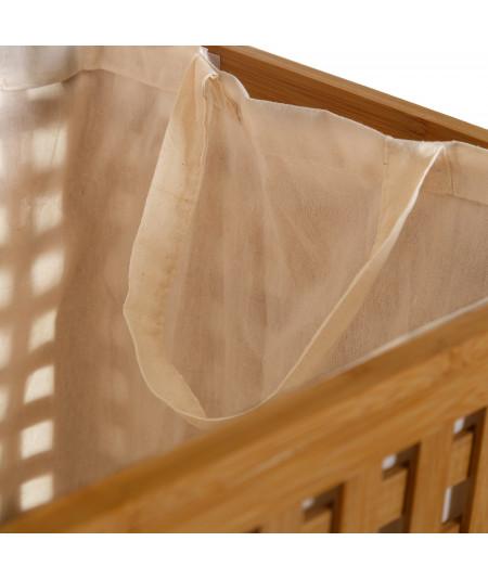 Corbeille à linge en bambou avec couvercle |YESDEKO