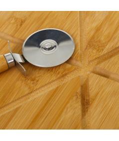 Planche en bambou à découper pizza Diam38cm |YESDEKO