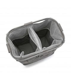 Panier à linge gris avec 2 compartiments  YESDEKO
