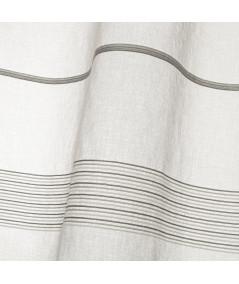 Voilage gris, fine broderie (Lot de 2) 140x260cm Casta |YESDEKO