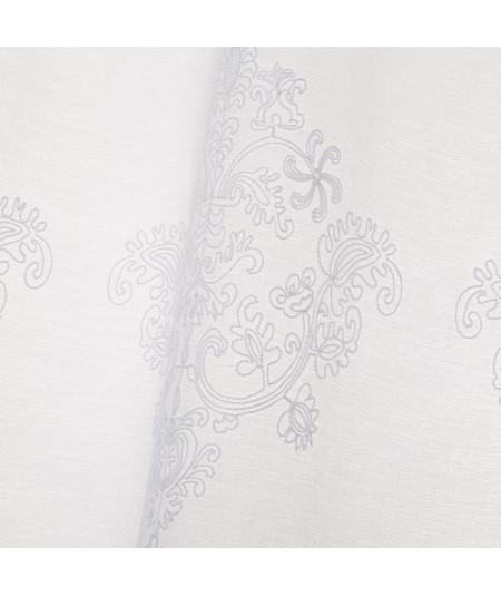 Voilage blanc style broderie (Lot de 2) 140x260cm Emotion | Yesdeko