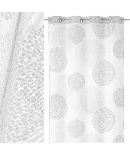 Voilage blanc à motif floral (Lot de 2) 137x240cm Astera  YESDEKO