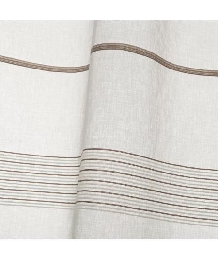 Lot de 2 voilages beige fine broderie 140x260cm - Collection Casta   Yesdeko