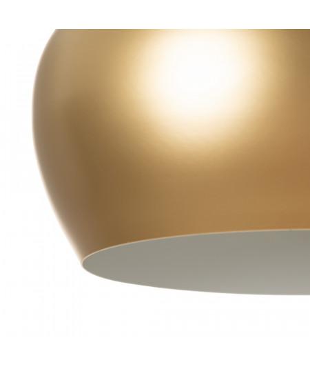 Plafonnier boule en métal, intérieur doré |YESDEKO
